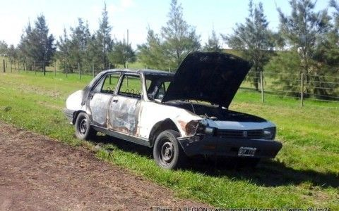 incendio auto 2 niño