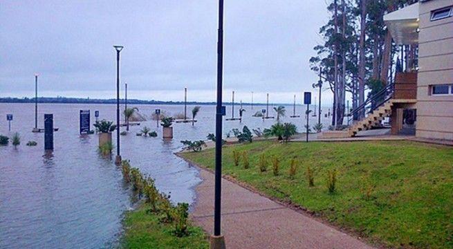 costanera inundada