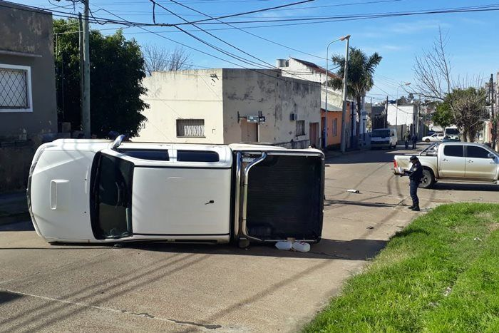 accidente camionetas