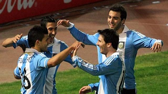Los grandes ausentes: Sergio Agüero, Ángel Di María, Gonzalo Higuaín y Lionel Messi.